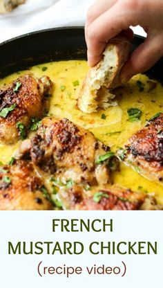 Mustard Chicken Recipe Looking for chicken things recipe for dinner? Try my Dijon Mustard Chicken. It's an easy one pot meal that is going to become a family's favorite. One of the best comfort food recipes for dinner. Great recipe for Dutch oven. Dijon Mustard Chicken, Tarragon Chicken, Frango Chicken, Easy One Pot Meals, Easy Paleo Meals, One Pot Dinners, Dump Dinners, Best Comfort Food, Healthy Comfort Food