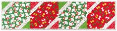 """""""All Wrapped Up"""" table runner designed by Kitchen Table Quilting. Features Jingle and Remix. FREE pattern."""