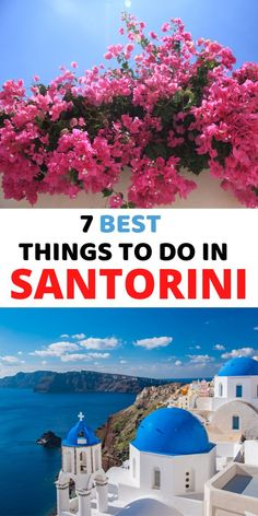 Here're the 7 best things to do in Santorini. #santorini #santornigreece
