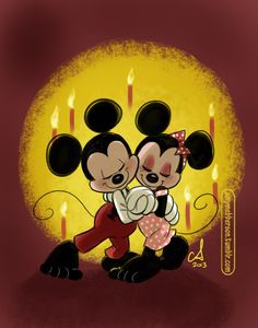 After-party waltz from the most adorable couple. Happy 85th Birthday, Mickey and Minnie.