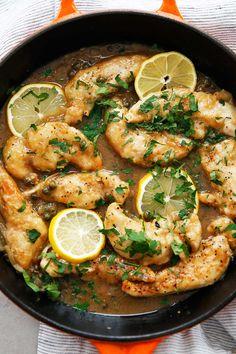 Chicken Piccata Recipe in Skillet