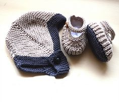This is a very quick little set to knit up, and would make the perfect Baby shower gift. If you would like a slightly larger hat you could use size 4.00 (US6 : UK8) needles.