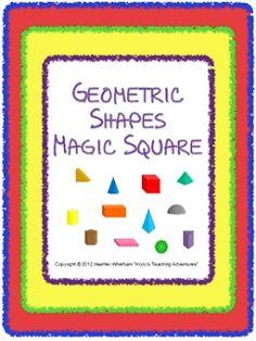 Geometric shapes Magic Square Puzzle $