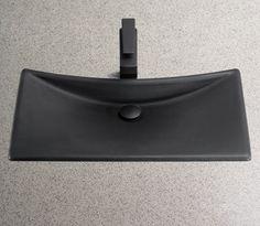 """Toto FLT132 Waza Noir 24"""" Cast Iron Vessel Sink - FaucetDirect.com"""