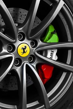 Ferrari http://pinterest.com/treypeezy http://twitter.com/TreyPeezy http://instagram.com/treypeezydot http://OceanviewBLVD.com #CaliperCovers #MGP #Brembo