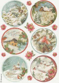 Rice Paper for Decoupage Decopatch Scrapbook Craft Sheet Christmas Greetings Christmas Gift Tags, Christmas Paper, Xmas Cards, Christmas Greetings, Christmas Crafts, Christmas Decorations, Christmas Ornaments, Christmas Christmas, Vintage Christmas Images