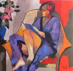 La Lecture by Pierre Pivet  (image from old.hollanderyorkgallery.com)