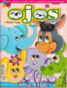 Revistas de manualidades Gratis: revista para aprender a pintar ojos a las manualidades