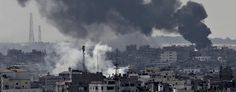 Smoke from Israeli strikes rises over Gaza City, in the northern Gaza Strip, Sunday, July 27, 2014. (Adel Hana/AP) Rocket fire ends temporary truce in Gaza Despite agreeing to a humanitarian cease-fire, Hamas launches a barrage of rockets. Israel's punishing response...