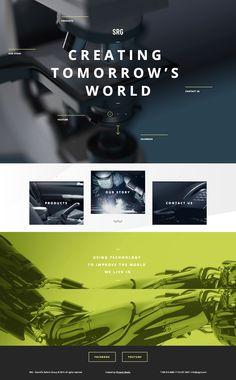 Unique Web Design, SRG (http://www.srgint.com/) #WebDesign #Design (http://www.pinterest.com/aldenchong/)