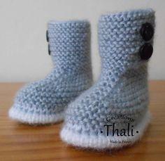 Les chaussons Boots, des chaussons en forme de botte avec une tige plus haute que les modèles traditionnels.