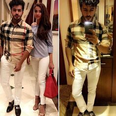 Spotted #SaimAli wearing Burberry shirt Versace shoes with the super hot Alyzeh gabol wearing Tom fords heels at Sakura dinning @s_saimali  #followme #insta #instagram #instapic #instagood #instafollow #instalife #instalike #instalove #instafashion #instafame #instafamous #lifestyle #style #model #samysays #love #peace #glam #glamour #artist #fashion #fashionista #fashionblogger