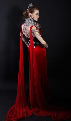 Red Queen Gown – Ballroom Sparkle Red Queen, Dance Dresses, Designer Dresses, Sparkle, Victorian, Gowns, Couture, Fashion, Vestidos