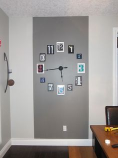 Wall Clock - old frames, pictures of numbers from the internet, clock hands from ebay- tadaa!