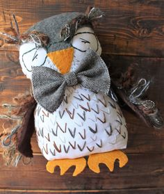 Hey, I found this really awesome Etsy listing at https://www.etsy.com/listing/466221898/mr-oliver-owl-cloth-doll-owl-toy-owl