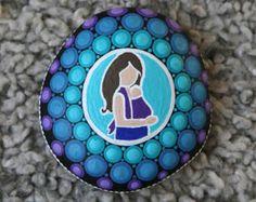 painted rocks mandala rocks mandala stone purple mandala