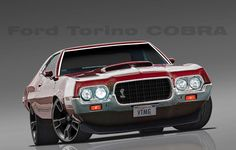 That front end is awesome! I always loved the look of this car! 1972 ford torino gt.