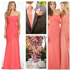 We love this new addition to our inventory. Jim Hjelm style # 5411. Lovely Melon chiffon over tangerine lining A line bridesmaid gown. Look forward to seeing you. #bridesmaids #bride #miamiwedding #miamjbride