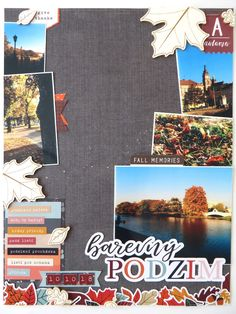 With falling leaves and colors and the October Page kit based on Forever Fall collection from Simple s. Happy Mail, Fall Collections, Autumn Leaves, Scrapbook Pages, Color, Fall Leaves, Colour, Colors