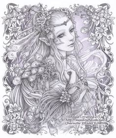 Here are the Interesting Coloring The Forest Fairy Coloring Page. This post about Interesting Coloring The Forest Fairy Coloring Page was posted . Fairy Coloring Pages, Adult Coloring Pages, Coloring Books, Kids Coloring, Colorful Drawings, Colorful Pictures, Art Drawings, Fantasy Kunst, Fantasy Art