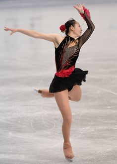 Miyabi Oba of Japan Ladie's short program All Japan Figure Skating Championships, Figure Skating / Ice Skating dress inspiration for Sk8 Gr8 Designs.