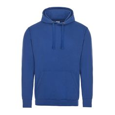 Just Hoods Supa Soft Large Royal Blue Hoodie JH002 280g 80% Cotton 20% Polyester with Chunky Strings