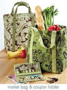 Free Market Bag & Coupon Holder Sewing Patterns