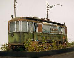 ♥ | © MINIART 1/35 scale European Tram. By Eugene Tur. #scale_model