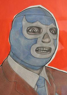 Blue Demon charcoal and chalk pastel by ignaciosalinas on Etsy, $55.00