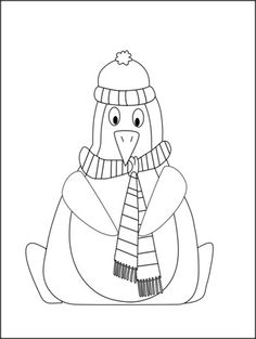 This is a free penguin coloring page. Print it out to add to your winter theme packs or penguin them packs.