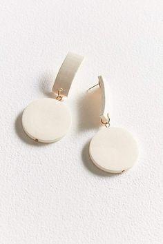 ZHUU Wood Circle Drop Earring