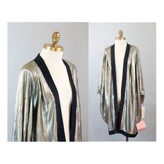 Silver Lamé Cocoon Jacket Never Worn Vintage by waywardcollection, $45.00