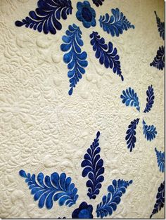 Love blue & white quilts. This is great quilting by Lisa Burmann