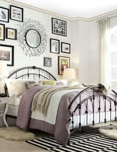 Love the curved bed frame