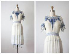 30s dress / 1930s cobalt czech dress by 1919vintage on Etsy