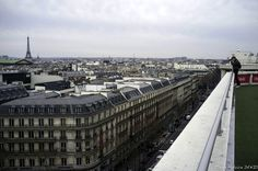 Paris by Fabrice Denis on 500px Eiffel Tower and Boulevard Haussmann view from the terrace of the Galeries Lafayette