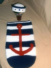 Ravelry: Sailor cocoon and hat pattern by Jennifer rose