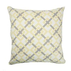 Kaedee Square Knot Pillow Canary
