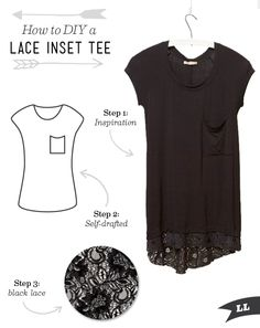 Lula Louise: DIY Outfit – Lace Inset Top