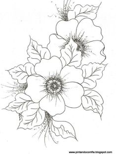 use for embroidery, décor on painted surfaces, pyrography, etc Colouring Pages, Adult Coloring Pages, Coloring Books, Fabric Painting, Painting & Drawing, Flower Sketches, Flower Drawings, Drawing Flowers, Paper Flowers