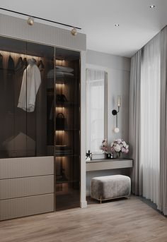 Modern Luxury Bedroom, Luxury Bedroom Design, Room Design Bedroom, Bedroom Furniture Design, Home Room Design, Luxurious Bedrooms, Wardrobe Room, Wardrobe Design Bedroom, Master Bedroom Interior