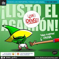"""#ElCartonDelDia para @PurakuraWeb """"LISTOS PARA EL AGARRÓN"""" duelo de espadas @miseleccionmx @LaRoja #Pique #MEXvsCHI"""