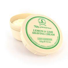 Cremă de ras Lemon & Lime - Taylor of Old Bond Street - Top-Man. Best Shave, Bond Street, Shaving Cream, Lemon Lime, Sensitive Skin, Avocado, Moisturizer, Fragrance, Pure Products