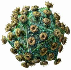 virus particle - ?seems to look too perfect to be an actual microscopic image. Don't you agree?