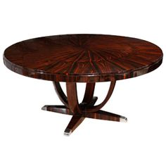 Superb Art Deco Round Dining Table H 30 in.	 Dm 5 ft. 3.5 in. $28,000 ON HOLD