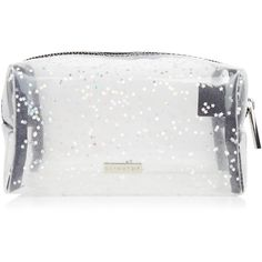 Clear Glitter Make Up Bag (405 MXN) ❤ liked on Polyvore featuring beauty products, beauty accessories, bags & cases, toiletry kits, toiletry bag, makeup purse, cosmetic bags and travel toiletry case