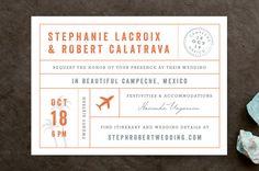 travel destination wedding   Passport Wedding Invitations by Sarah Curry   Minted