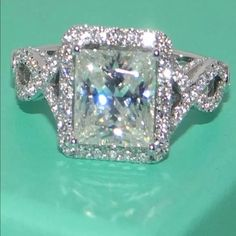 Gorgeous ring Stunning Crystal and Sterling silver ring. In a gorgeous setting. Jewelry Rings