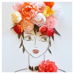 """""""Lovely Ave"""" Flower Face Print by Vicki Rawlins Flower Prints, Flower Art, Flower Girls, Colorful Flowers, Beautiful Flowers, Fashion Painting, Diy Arts And Crafts, Face Art, Unique Art"""