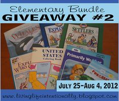 Elementary Bundle Giveaway (July 25 - Aug 4). Anyone can enter @ www.livinglifeintentionally.blogspot.com